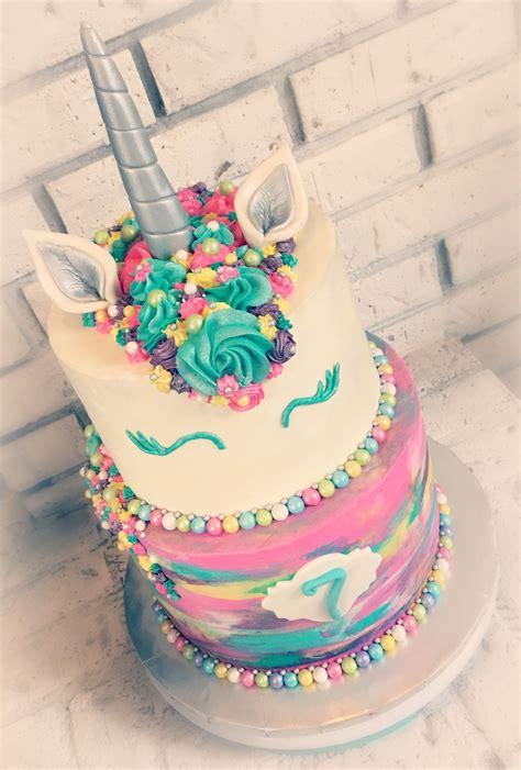 Rainbow Buttercream Uk15 1 unicorn rainbow buttercream tiered cake unicorn stuff tiered cakes unicorns and