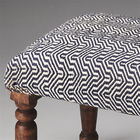 blue and white ottoman blue and white chevron patterned ottoman stool with