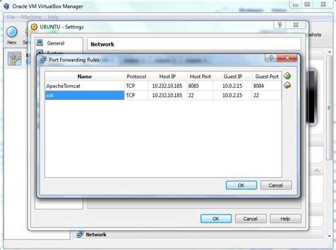 virtualbox forwarding networking nat forwarding in virtualbox user