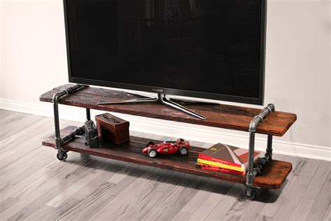 industrial tv stand vintage industrial tv stand