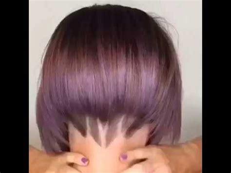fotos de cortes de pelo de la nuca nuevo corte de pelo estilo bob verano 2016 youtube