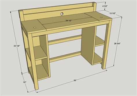 Small Computer Desk Plans Small Computer Desk Buildsomething