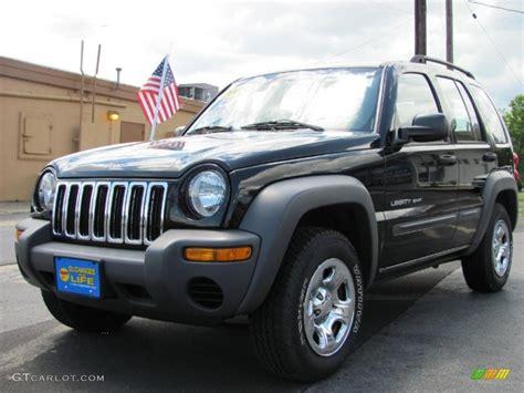 black jeep liberty 2003 2003 black clearcoat jeep liberty sport 4x4 32178702