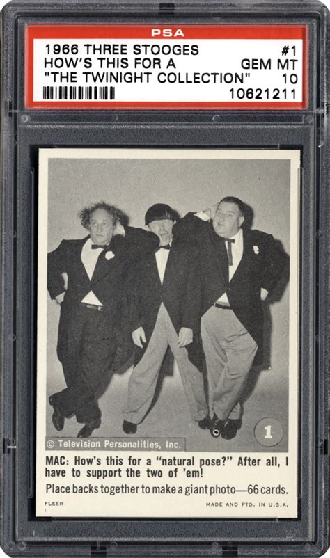 1959 fleer three stooges curly i tell you it is not a dog non sports cards 1966 fleer three stooges psa cardfacts