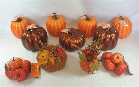 wholesale lot of 14 pumpkin fall table - Fall Decor Wholesale