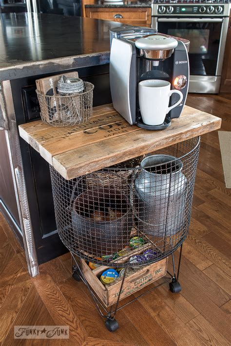 Kitchen Cart Coffee Station Funky Junk Vintage Cart Turned Coffee Stationfunky