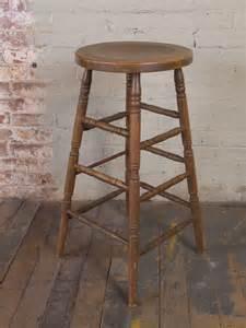 Retro Wooden Bar Stools Vintage Industrial Wooden Bar Stool Get Back Inc