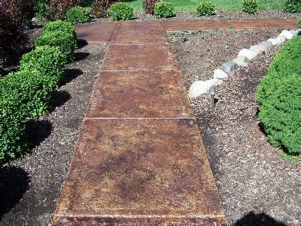 stained concrete walkway landscape outdoor living ideas pinterest