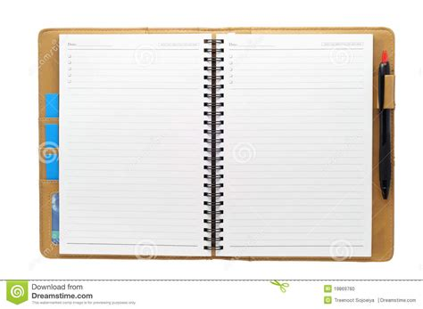 Letter Notebook Open Blank Note Book Stock Photo Image Of Blank Book 19869760