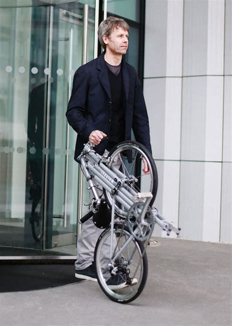 designboom tim spears whippet bicycle folds as a slim and stylish companion for