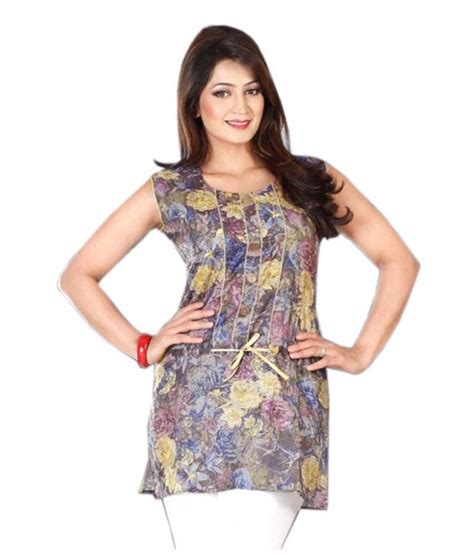 Arista Purple arista floral purple printed sleeveless kurti buy arista