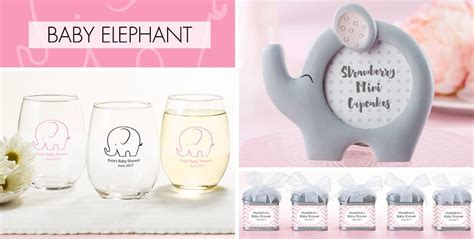 Pink Elephant Baby Shower Favors by Pink Baby Elephant Baby Shower Supplies City
