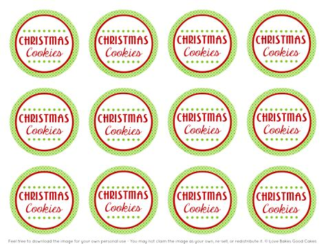 free printable holiday worksheets free christmas cookies 5 best images of free printable cookie labels free