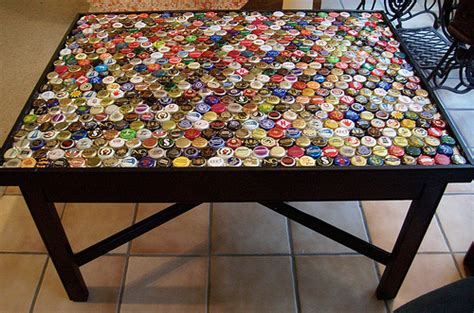 bottle cap coffee table step 4 flickr photo