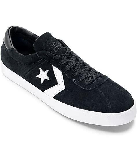 converse breakpoint pro ox black white skate shoes zumiez