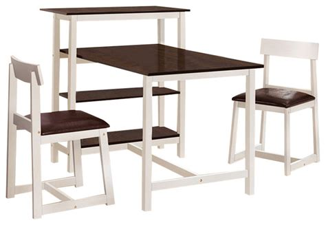 Dining Room Sets Under 100 by Acme Furniture Halle White Espresso Finish 3 Piece