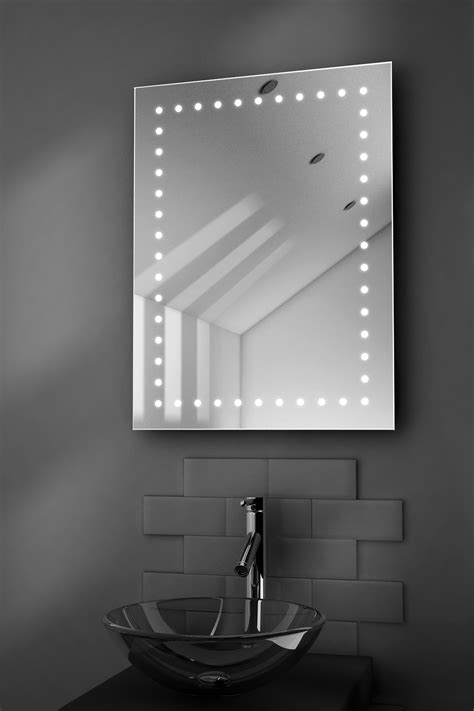 bathroom demister mirror inca ultra slim led bathroom illuminated mirror with
