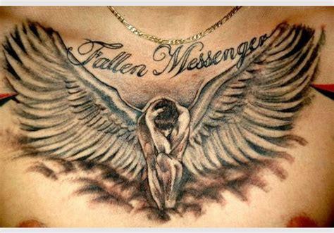 Angel Tattoo Spread Wings | 30 holy angel tattoos creativefan