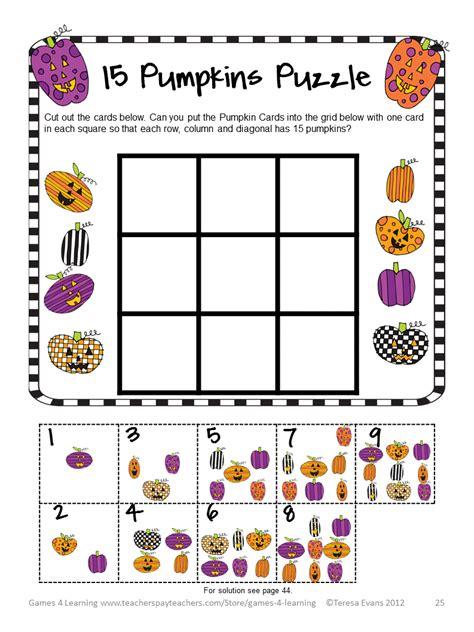 printable halloween puzzle games fun games 4 learning halloween math freebies