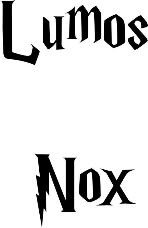 harry potter lumos nox light switch cover vinyl decal