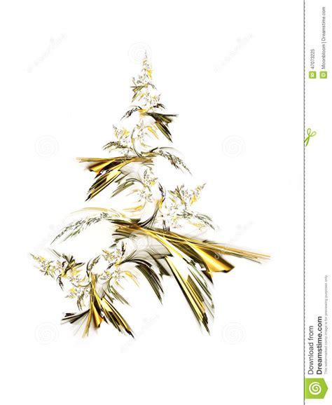 goldener weihnachtsbaum stock abbildung bild von