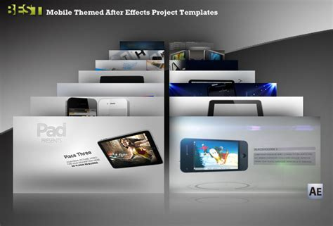 best ae templates 14 mobile themed after effects project templates best