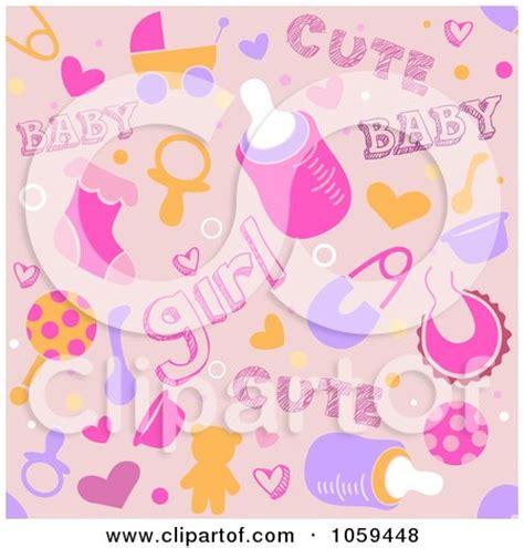 royalty  vector clip art illustration  baby shower