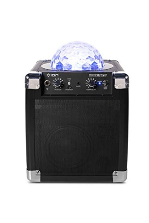 ion portable speaker system with party lights ion audio house party ipa18l portable sound system