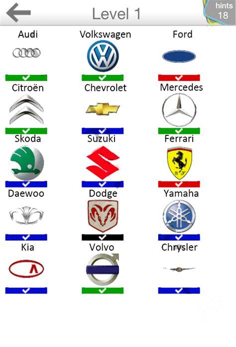 Cheats For Home Design On Iphone by Logo Quiz Cars Il Gioco Dei Loghi Di Automobili Soluzioni