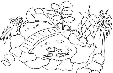 Gambar Pemandangan Gunung Dan Sawah Kartun