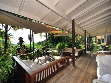 multi level outdoor living design with balcony shade sail using timber outdoor living photo