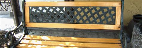 wrought iron bench kit cast iron backed bench restoration kit arbc