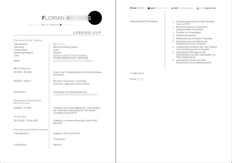 Bewerbung Lebenslauf Hochladen Lebenslauf F 252 R Berufsbegleitendes Studium Nach Ausbildung Bewerbungsforum