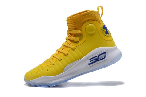 yellow armour basketball shoes cheap ua curry 4 warriors yellow mens basketball shoes
