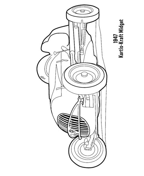 different cars coloring pages bluebonkers kurtis kraft midget 1947 coloring pages