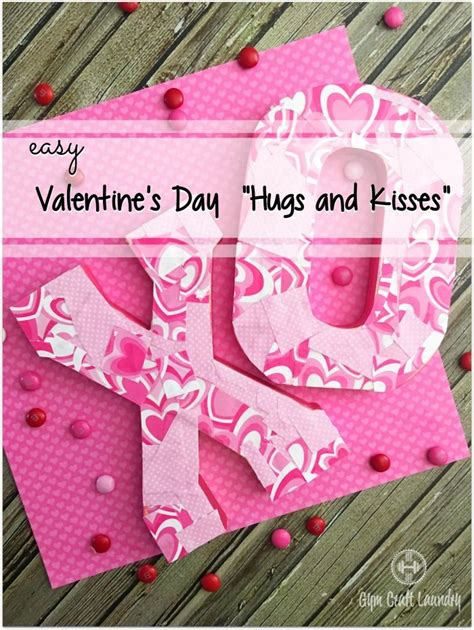 Easy Decoupage Ideas - easy decoupage ideas valentines x s and o s valentines