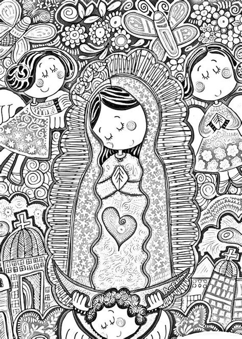 Barroca Virgen De Guadalupe Distroller Pinterest Our Of Guadalupe Coloring Page