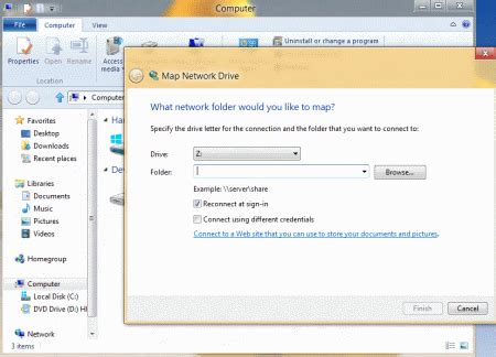 map network drive windows 8 how to map network drive in windows 8