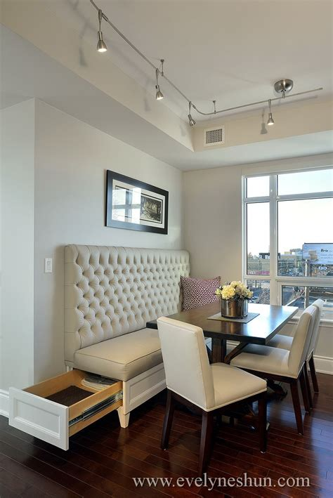 dining room bench seating with hidden storage wood secret storage in a custom made dining tuft back banquette