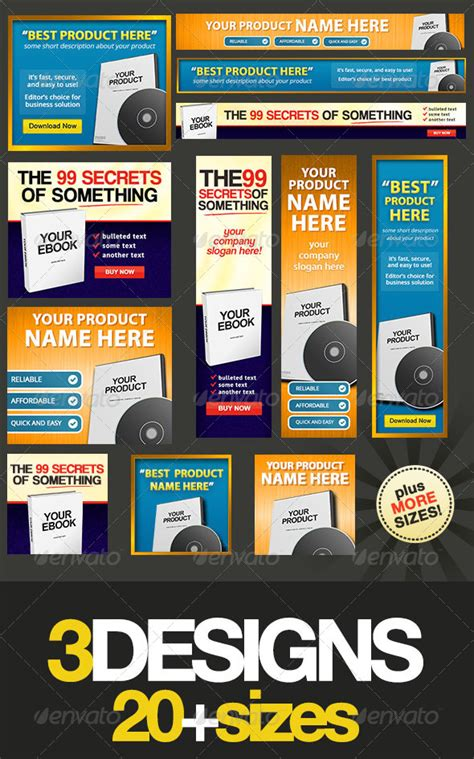 product banner template product box web banner design bundle graphicriver