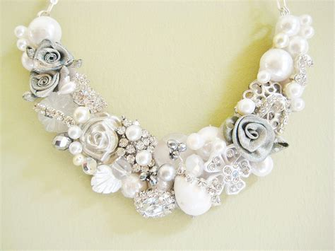 Handmade Wedding Jewelry - statement wedding jewelry bridal necklace etsy handmade 9