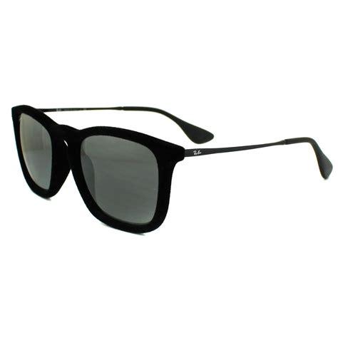 Rb Chris Mirror Silver ban sunglasses chris 4187 60756g velvet black grey
