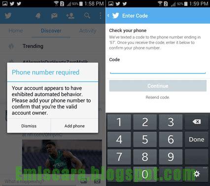 cara membuat twitter lewat hp android cara daftar twitter lewat hp android emiscara com