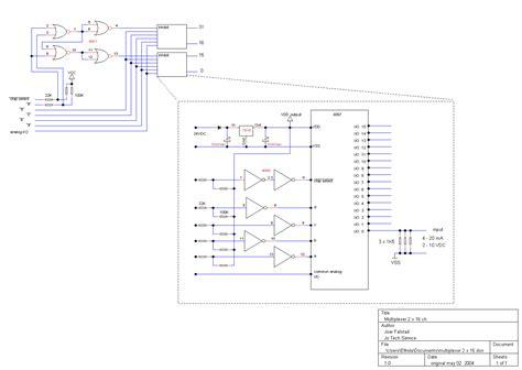 analog multiplexer integrated circuit pls plc controlled analog multiplexer demultiplexer schematic