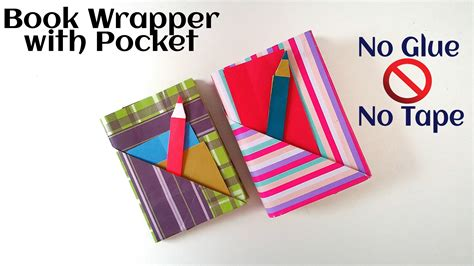 How To Make Useful Things Out Of Paper - useful origami paper quot book wrap with pocket bookmark