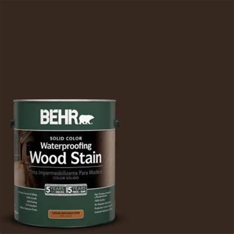 behr 1 gal sc 105 padre brown solid color waterproofing wood stain 21301 the home depot