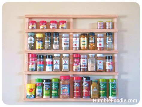 Home Made Spice Rack diy spice rack jpg