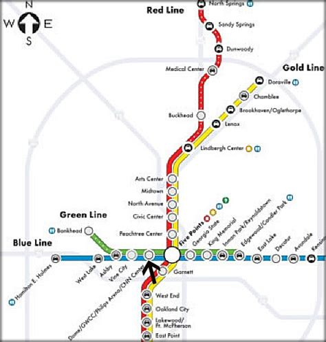 marta station map a guide to getting to and from the dome and dealing with atlanta s new year s swarm