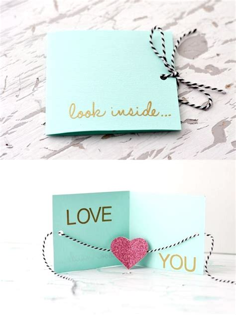 Unique Handmade Cards Ideas - adorable valentines day handmade card ideas pink lover