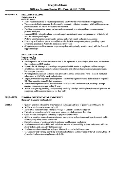 resume format for hr admin manager cv sle hr administrator choice image certificate design and template
